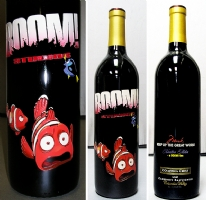 BOOM! Little Nemo/ Mark Waid etched wine bottle Comic Art
