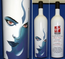 Devi / Virgin Comics etched wine bottle Comic Art