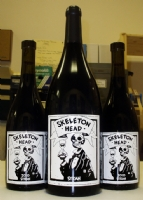 Skeleton Head Syrah / Mignola etched bottles Comic Art