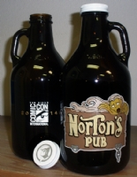 Norton's Pub growler from The Goon / Eric Powell etched 32oz  Comic Art