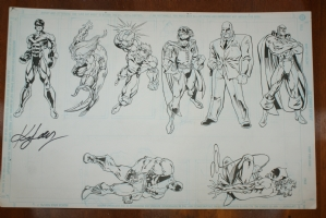 Miscellaneous DC Characters - Ken Lashley Comic Art