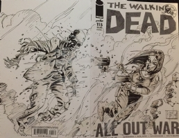 The Walking Dead Sketch Cover by Neil Vokes Comic Art