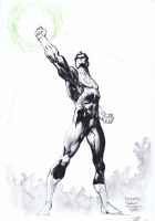 Freddie E. Williams II - Green Lantern Hal Jordan commission Comic Art