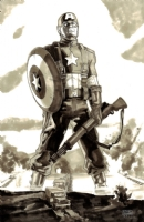 Captain America - We Clear the Way Comic Art
