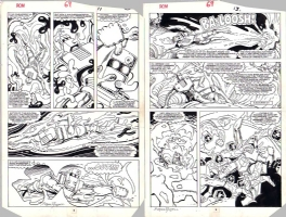 ROM Spaceknight 69 pg 11 & 13 STEVE DITKO & P. CRAIG RUSSELL Comic Art