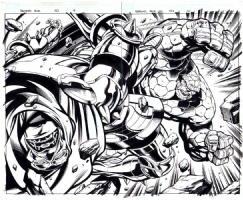 Fantastic Four 552 pg 9/10 DOUBLE SPLASH Comic Art