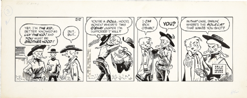 Lynde - Rick O'Shay 1958 Daily Comic Art