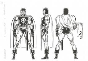 Keith Pollard OHOMU-ME Black Knight Comic Art
