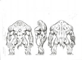 Keith Pollard OHOMU-ME Sasquatch Comic Art