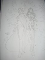 Billy TAN - Jean Grey - Phoenix & Emma Frost - White Queen Comic Art