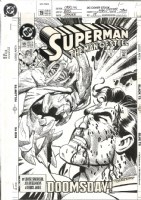 Superman: Man of Steel #19 cover Comic Art