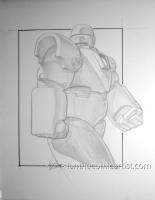 Iron Monger pencil illustration, Comic Art