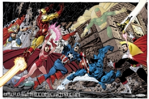 John Byrne - Avengers vs Count Nefaria Comic Art