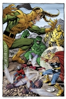 John Byrne - Avengers vs Loki Comic Art