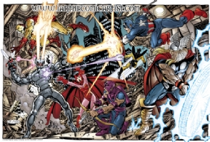 John Byrne - Avengers vs Ultron Comic Art