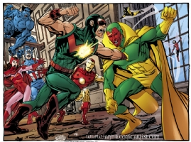 John Byrne - Wonder Man vs the Avengers Comic Art