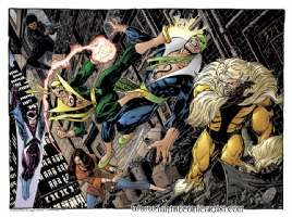John Byrne - Iron Fist Battle Royale Comic Art