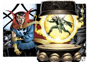 Paul Smith - Doctor Strange and Baron Mordo Comic Art