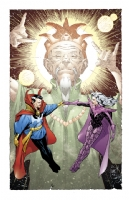Paul Smith - Dr Strange, Clea, and the Ancient One Comic Art