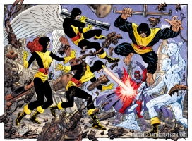 John Byrne - X-Men vs Magneto Comic Art