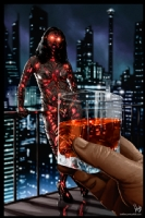 Cyberpunk Painting 057, Comic Art