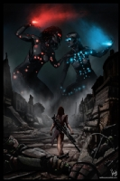 Cyberpunk Painting 055, Comic Art