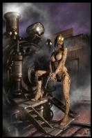 Steampunk Painting 007, Comic Art
