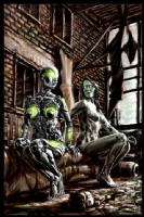 Cyberpunk Painting 029, Comic Art