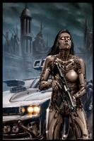 Cyberpunk Painting 037, Comic Art