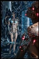 Cyberpunk Painting 069, Comic Art