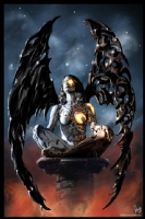 Robot Angel Painting 006, Comic Art