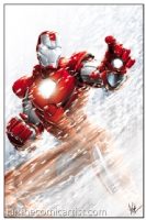 Iron Man Silver Centurion armor - movie version, Comic Art