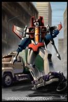 Starscream from the Transformers, Comic Art