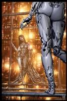 Cyberpunk Painting 035, Comic Art