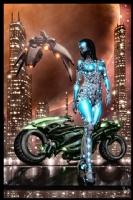 Cyberpunk Painting 047, Comic Art