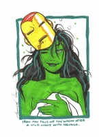 She-hulk by Amanda Conner Comic Art