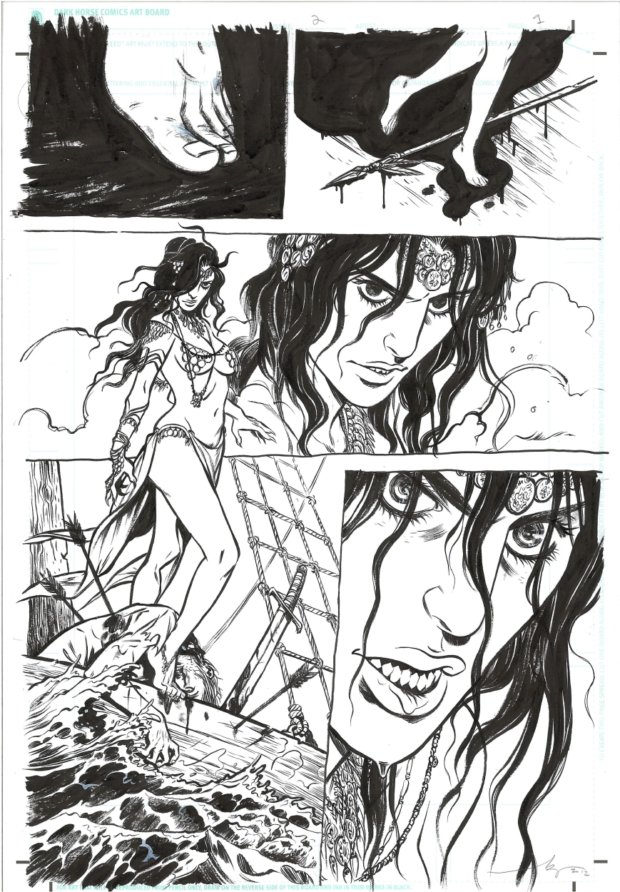 Conan The Barbarian : Queen Of The Black Coast (Dark Horse, 2012) #2 page 1 Comic Art