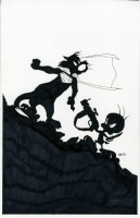 Superman / Batman Looney Tunes cover Comic Art