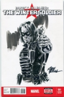 Winter Soldier sketch cover - Steve Epting Comic Art