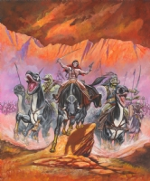 Harry Roland Thark Cavalry Comic Art