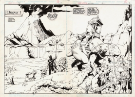 Jeff Johnson Green Lantern Annual #6, Pages 2-3 Comic Art