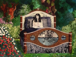 Scott Hampton Girl in Bed (Forest) Comic Art