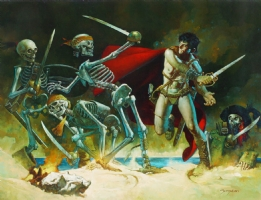 Sanjulian John Carter / Skeletons Comic Art