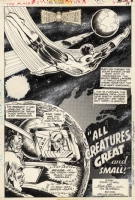Mike Grell Flash #242, Green Lantern Story Page 1 Comic Art