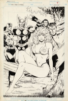 Butch Guice Marvel Fanfare #45, Invisible Woman Pin-Up Comic Art