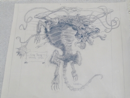 The Thing - Dog Kennel Creature Comic Art