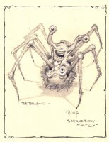 The Thing - Spider Head Comic Art