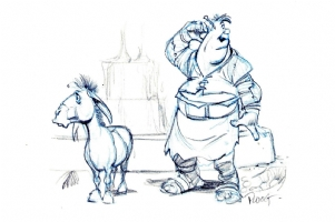 Shrek and Donkey Comic Art