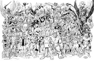 Avengers Universe Comic Art