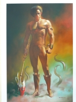 College tuition sale.: Boris Vallejo Painting-Black Axe 1981 Comic Art